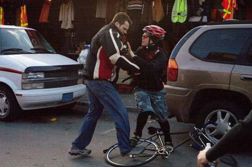 Bike fight