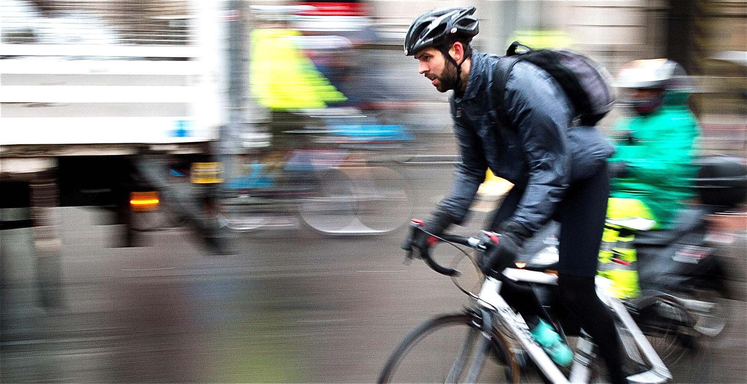 Rider in Traffic